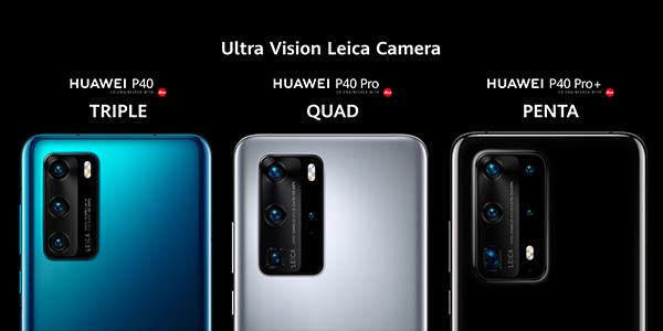Los P40 de Huawei y sus cámaras, son muchas y poderosas