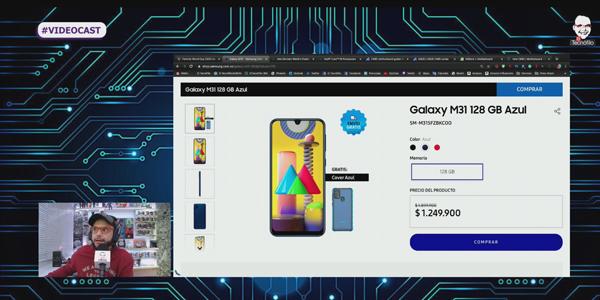 Samsung M31 e Intel 10a generación