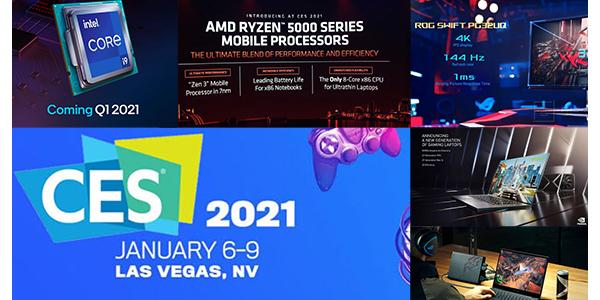CES2021 Parte 2: Los lanzamientos y novedades de INTEL, AMD, ASUS ROG e Nvidia